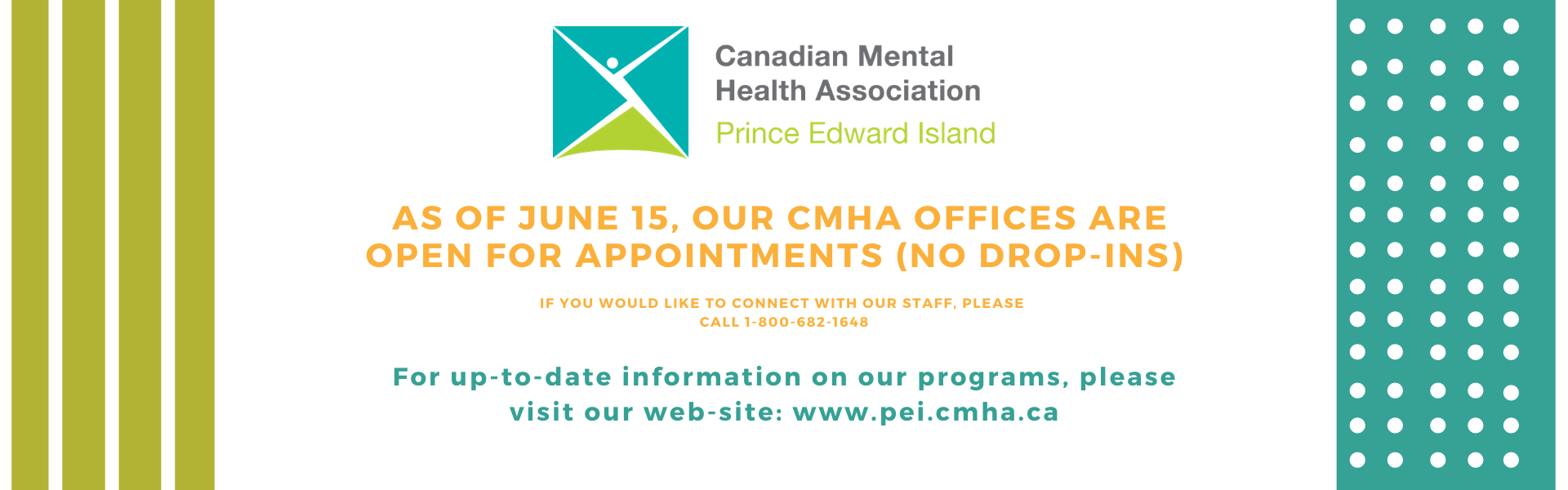CMHA is now open for appointments